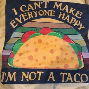 Taco Graphic T-Shirt Grey Size Large
